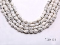Wholesale 10x15mm Irregular White Turquoise Beads String