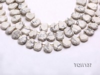 Wholesale 4x12x15mm Irregular White Turquoise Beads String