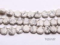 Wholesale 4x12x15mm Irregular White Turquoise Beads String