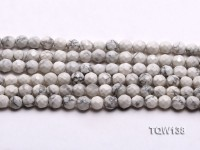 Wholesale 8mm Round White Faceted Turquoise Beads String