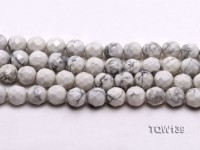 Wholesale 10mm Round White Faceted Turquoise Beads String