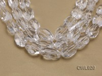 Wholesale 22x35mm Irregular Faceted Rock Crystal Pieces String