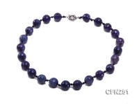 16mm Dark Purple Round Faceted Gemstone Necklace