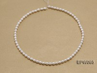 Wholesale 4.5×5.5mm  Rice-shaped Freshwater Pearl String