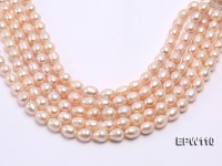 Wholesale 11x14mm Pink Rice-shaped Freshwater Pearl String