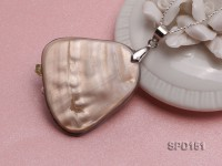 35x45mm Irregular White Shell Pendant