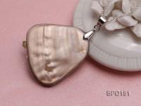 35x45mm Irregular White Shell Pendant