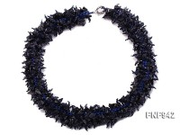 Blue Sandstone Chips Necklace