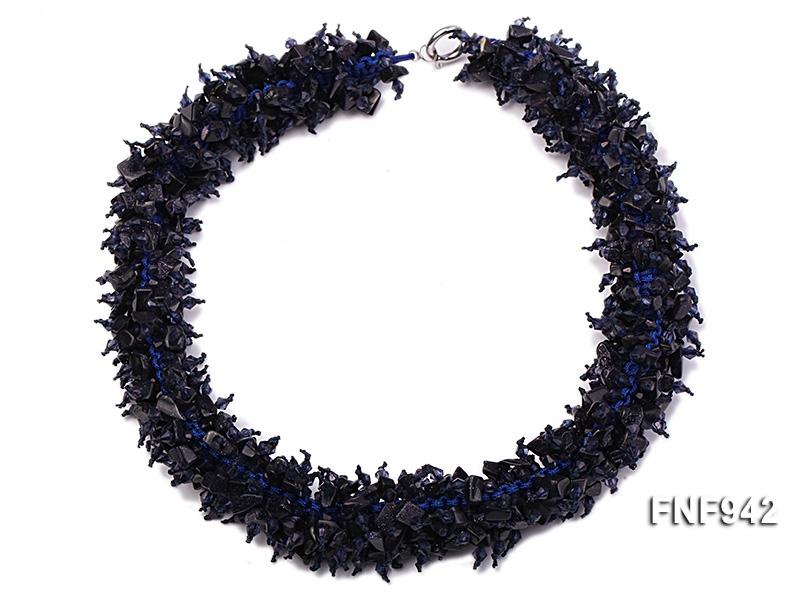 Blue Sandstone Chips Necklace