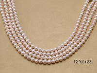 Wholesale Classic 8-8.5mm White Round Freshwater Pearl String