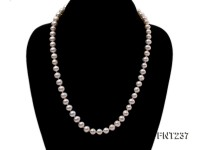 6.5-7.5mm White Round Freshwater Pearl Necklace and Bracelet Set