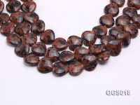 wholesale 17x18mm heart-shaped goldstone strings