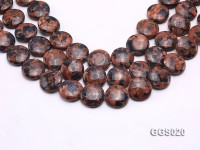 wholesale 20*7mm round Goldenstone pieces strings