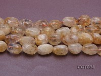 Wholesale 17x22mm Oval Citrine Beads Loose String