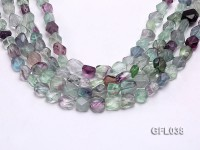 Wholesale 10*12mm Colorful Faceted Irregular Fluorite String