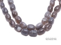 wholesale 15*21mm oval Faceted Natural Agate Strings