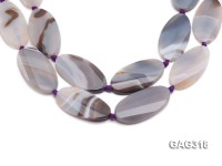 wholesale 7*26*50mm oval agate pieces strings