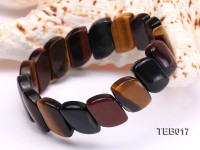 9.5x18x30mm Natural Tiger Eye Pieces Elasticated Bracelet