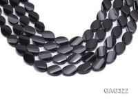 wholesale 13*18mm black oval Agate Strings