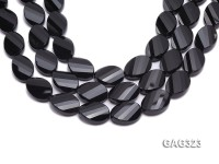 wholesale 18*25mm black oval faceted Agate Strings