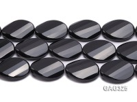 wholesale 30*40mm black oval Agate Strings