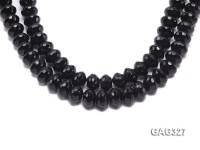 wholesale 10*14mm black Faceted wheel-shaped Agate Strings