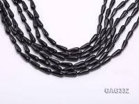 wholesale 6*16mm drip-shaped Faceted Natural Agate Strings