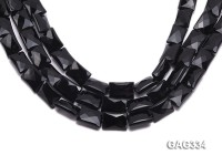 wholesale 6*13*18mm black Rectangle Agate Strings