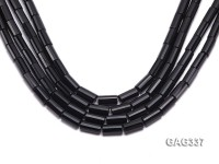 wholesale 8*16mm black Rectangle Agate Strings