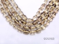 Wholesale 14*19mm Oval Lemon Quartz String