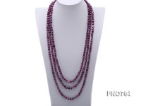 7-8mm purple freshwater pearl opera necklace