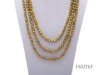 8-9mm light yellow freshwater pearl opera necklace