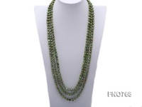 7-8mm green color freshwater pearl opera necklace