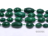 Wholesale 9×13-20x35mm Vivid Green Faceted Oval Gemstone String