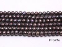 Wholesale 6.5×7.5mm  Flat Freshwater Pearl String