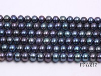 Wholesale 5.5x7mm Black Flat Cultured Freshwater Pearl String