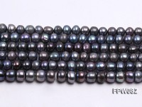 Wholesale 8-9mm Black Flat Cultured Freshwater Pearl String