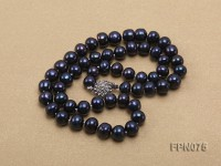 Classic 8.5mm Black Flat Cultured Freshwater Pearl Necklace