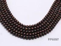Wholesale 7x8mm Black Flat Freshwater Pearl String