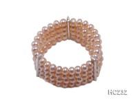 4 strand 8mm pink freshwater pearl bracelet