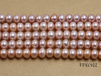 Wholesale 8x10mm Natural Lavender Flat Freshwater Pearl String