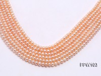 Wholesale 6.5×7.5mm Pink Flat Freshwater Pearl String