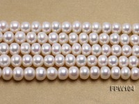 Wholesale 8.5x10mm Classic White Flat Freshwater Pearl String