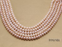 Wholesale 9-10mm Natural Lavender Flat Freshwater Pearl String