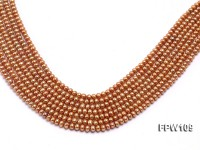 Wholesale 5.5×6.5mm Brownish Flat Freshwater Pearl String