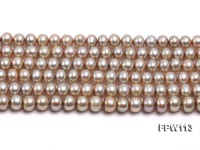 Wholesale 6×7.5mm  Flat Freshwater Pearl String