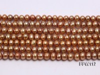 Wholesale 5.5x6mm Flat Freshwater Pearl String