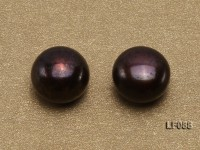 Wholesale Cards of 8.5-9mm Black Flat Pearls—30 Pairs