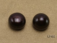 Wholesale Cards of AA-grade 10-10.5mm Black Flat Pearls–27 Pairs