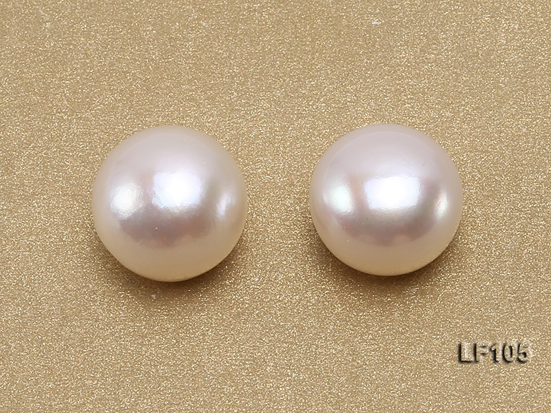 Wholesale Cards of AA-grade 10-11mm Classic White Flat Freshwater Pearls—27 Pairs